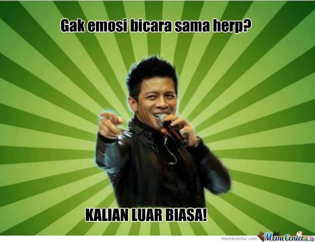 Ini saya repost dari Page saya :D Like yahh :D namanya Meme Rage Indonesia.. Ini link nya https://www.facebook.com/pages/Meme-Rage-Indonesia/132769533588641 Thx.. Follow jg twitter ane @delvin__