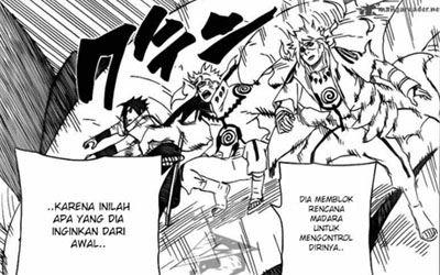 Komik Naruto Chapter 637 Bahasa Indonesia http://narabaihaqi.blogspot.com/2013/07/komik-naruto-chapter-637-bahasa.html Sinopsis : Obito yang di kendalikan Madara ingin menggunakan renne tensei, Naruto cs mencoba untuk menggagalkannya. Untung
