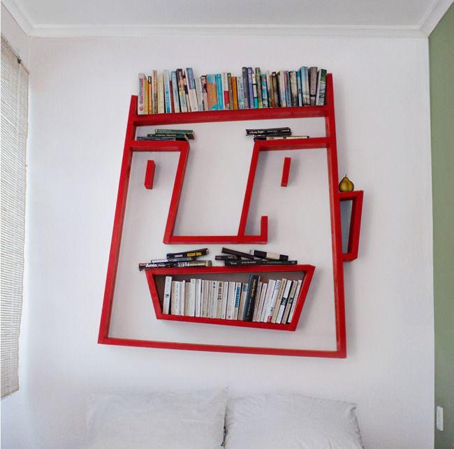 Rak buku unik, bisa ditiru di kamar sendiri, kamar kos dan apartemen. Mau nyoba?