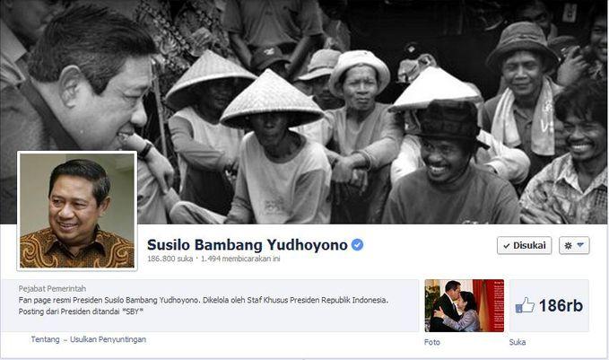 WOW SBY (Susilo Bambang Yudhoyono) Resmi Mempunyai Fanpage Facebook