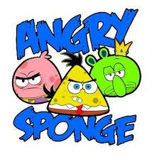 Angry sponge, ada gamenya gak yaa.... klik wow