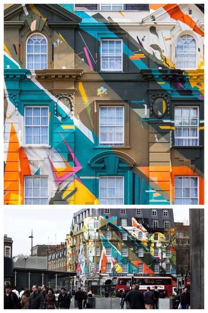 Projek mural terbesar di London, melapisi bangunan seluas 450 m2 (bagian luar dan dalam). Tampak dalemnya nanti diposting lagi :D