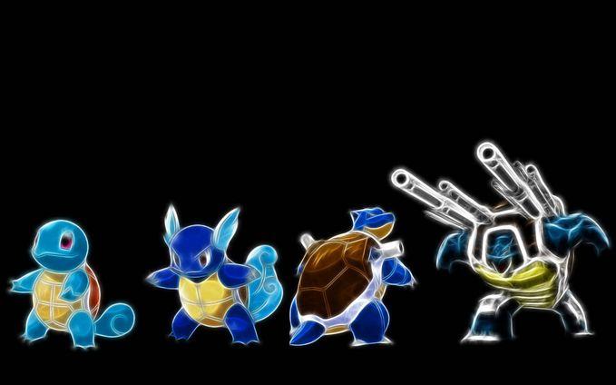 keren bgt... Squirtle => Wartortle => Blastoise ...... Great Evolution