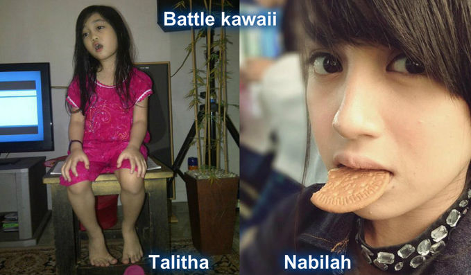 ternyata Talitha Litle miss Indonesia dan Nabilah JKT48 mirip ya .. WOWnya dong ..