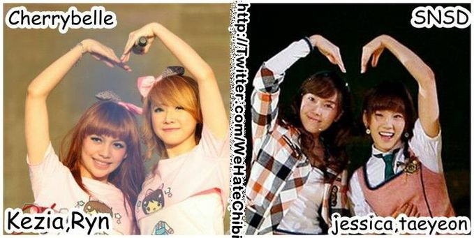 kezia and ryn chibi PLAGIAT jessica and taeyeon snsd.