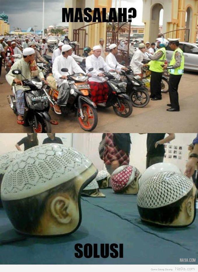 Pakailah Helm SNI ( Standar Nasional Iskam )
