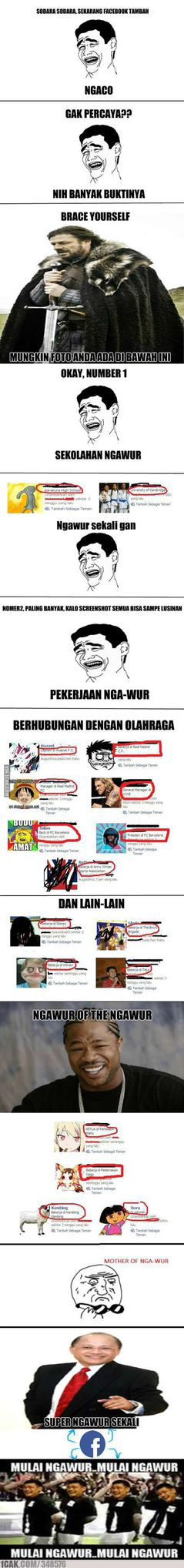 mother of ngawur in facebook from 1CAK.com