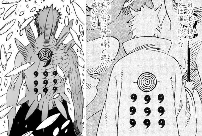Inilah perbandingan penampilan bagian belakang Obito setelah menjadi Jinchuuriki Juubi dengan Rikudou Sennin. Jangan lupa Klik WOW ya.