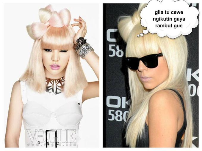 ternyata sunny snsd plagiat rambut lady gaga