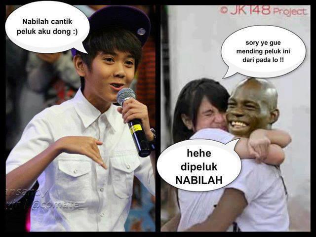 Nabilah JKT48 Lebih baik peluk cowok hitam ini dari pada dipeluk Iqbal CJR