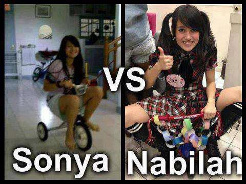 Ternyata Sonya JKT48 & Nabilah JKT48 Masih Suka Main Sepedah Roda 3