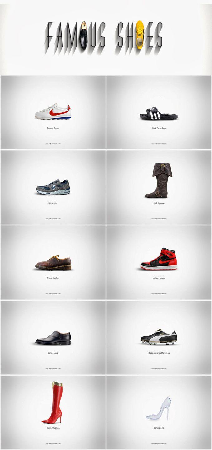 Famous Shoes oleh Federico Mauro. Berbagai merek sepatu terkenal yang pernah ada. Pastikan, anda memiliki satu dari-nya... atau tidak? Kurang jelas? Lihat sisa sereisnya di: http://goo.gl/jOzco