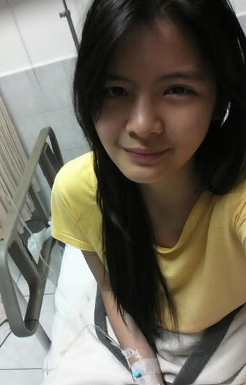 Foto Sonya JKT48 waktu dirawat di Rumah Sakit, tetap cantik walau lagi sakit.