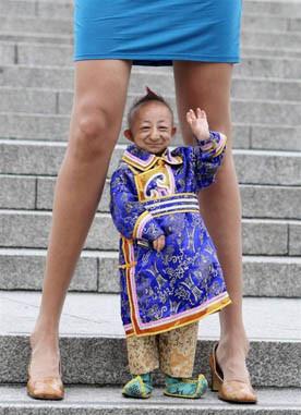Manusia terkecil didunia asal china dengan tinggi hanya 74.61 Cm saja