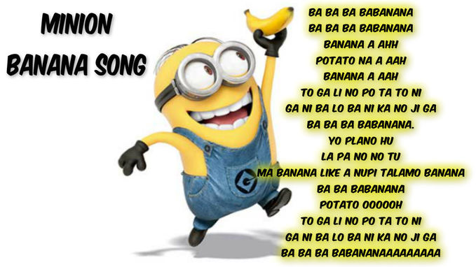 Ini Dia Lirik Lagu Banana Minion Wow Plz Thx