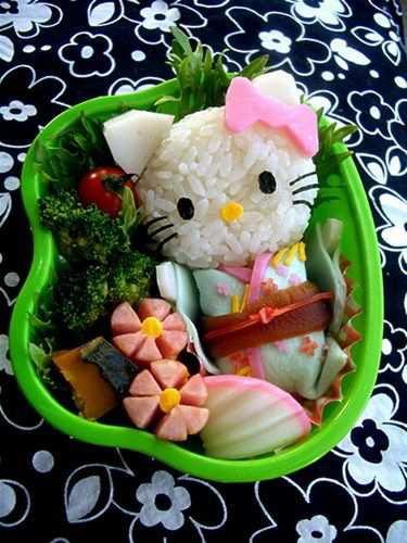 Cute Hello Kitty Bento wow nya plis