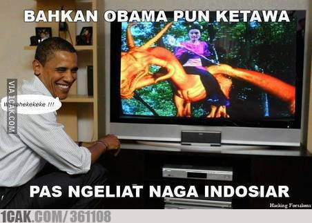 Obama Pun Tertawa Melihat Naga Indosiar :D