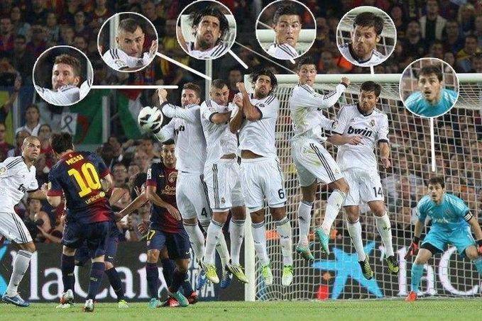 Lihat EXPRESI pemain REAL MADRID , semuanya seperti ini {>_<} CULES jngan pelit WOOW nya yaaa...!!