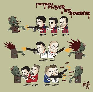 Football players Vs Zombies
