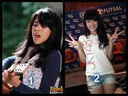 Kalian pilih mana??!! Maudy or Nabilla? :) :D :P Me: Maudy ^^