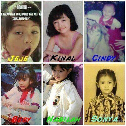 foto-foto member JKT48 Semasa Kecil