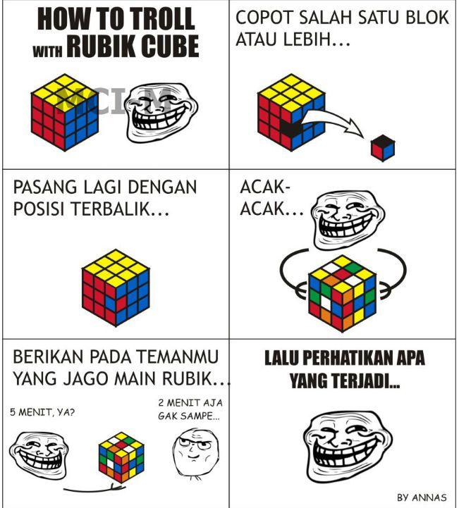 How to troll rubic cube