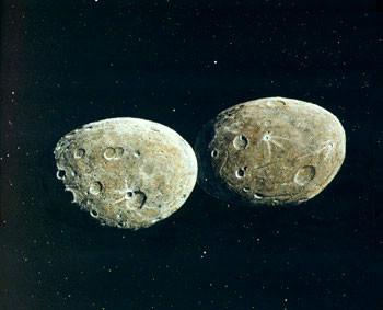 Asteroid ini memiliki dimensi sekitar 200 kilometer dan memiliki bulan sendiri. Ia merupakan bagian dari asteroid Trojan yang terikat dalam orbit planet Jupiter.