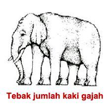 Tebak Jumblah Kaki gajah yg sebenarnya !!