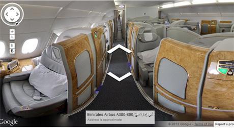 Menjelajah Kabin Mewah Emirates A380 via Street View