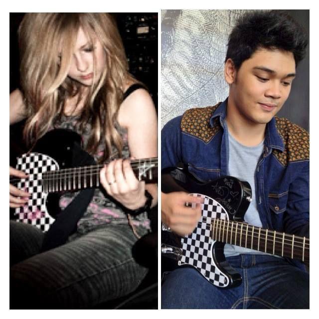 gitar Avril Lavigne Pindah ke Mikha Angelo... wow nya yah!!