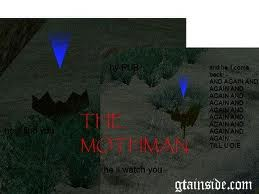 inilah mothman di gta sa dia berada di las barancas wownya ya gan plizz