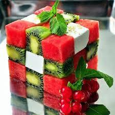 Siapa yang bisa main rubik dari buah-buahan ini? Ada buah apa aja disana? Ada yang mau makan? Wownya jangan lupa ya! :D