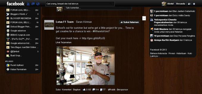 untuk yang mau rubah tampilan Facebook lo :D http://z-cybertycku.blogspot.com/2013/08/cara-merubah-tampilan-facebook.html minta wownya juga dong :D