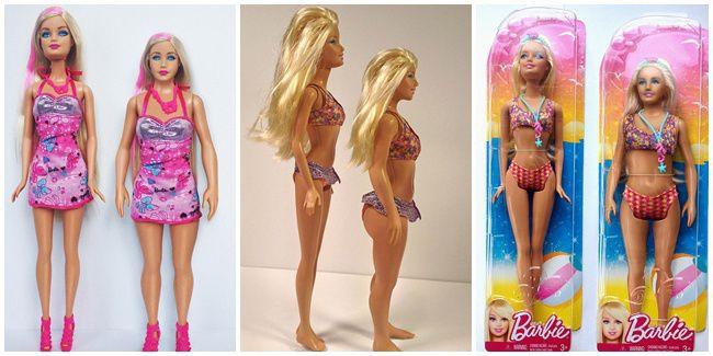Akhirnya, Kini Ada Boneka Barbie Dengan Ukuran Yang Lebih Manusiawi.....!!!