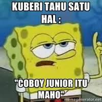 Kata spongebob cj itu maho...