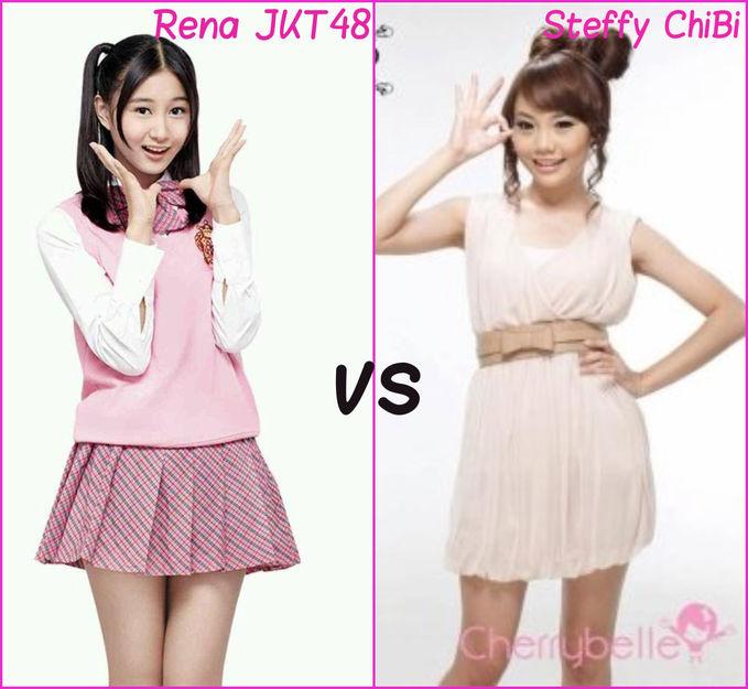 Pilih mana? Rena JKT48 /Steffy ChiBi ? Jangan lupa WOW nya yah pulskers