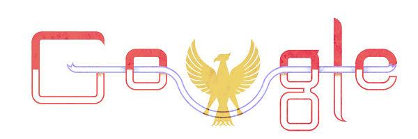 ini adalah logo Google untuk hari ini SELAMAT ULANG TAHUN INDONESIA !!!