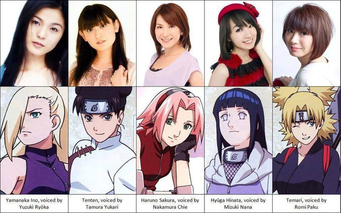 ini-lah orang-orang yg mengisi suara Ino Yamanaka, Tenten, Sakura Haruno, Hinata Hyuga, Temari. WOW-nya ya! ;)