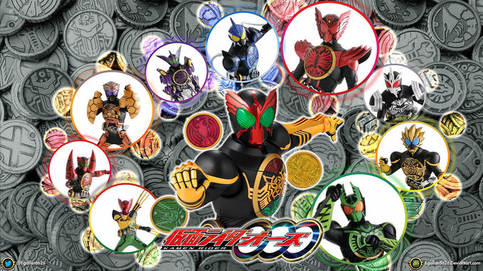 wow all combo and medals of kamen rider OOO , minta wownya ya