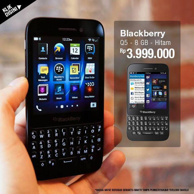 Mau beli smartphone blackberry terbaru ? Cobalah Blackberry Q5 dengan harga menarik di lazada.co