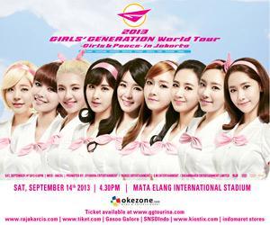 snsd world tour in Jakarta #1 Girl group SNSD (Girls Generation) siap melakukan konser tunggal Girls Generation World Tour -Girls n Peace- di Mata Elang International Stadium (MEIS) Ancol, Jakarta, Sabtu 14 September 2013.