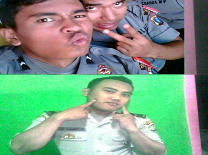 Hahah inilaH Foto Polisi Indonesia yang berpose di kamera dengan narsis dan alay hahha !!! Woww nya mana nihh ! jangan liet aja dongg !! Follownya juga ya !! :D