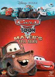 cars toon dari filmnya cars 1 & cars2 sekarang pihak disney pixar membuat cars toons mater tall tales.