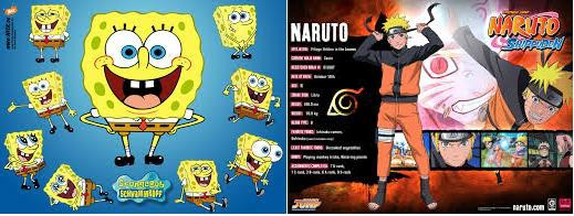 Naruto VS Spongebob Tahukah Kalian ?? Spobebob adalah Kartun animasi Yang Digemari anak Anak Dan Orang Dewasa !! Yang Berceritakan Tentang Sebuah Spon Yang Tinggal Di rumah Nanas ! Dan Temannya Patrick Yang Tinggal Di Bawah Batu , Dengan Peral