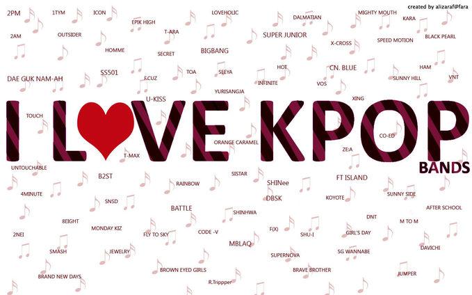 100 Daftar lagu-lagu K-pop