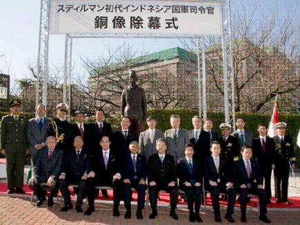 Mungkin anda tidak Percaya bahwa Di Jepang ada patung Jenderal Sudirman, yang merupakan hadiah dari Kementerian Pertahanan RI kepada Kemhan Jepang.