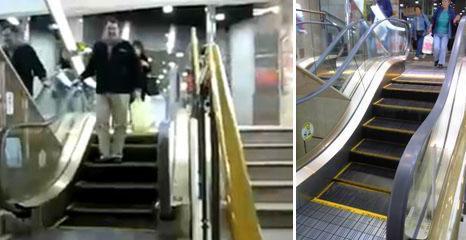 Eskalator tependek di Dunia ini berada di salah 1 mall di Jepang, anak tangganya hanya berjumlah 6 buah saja :D