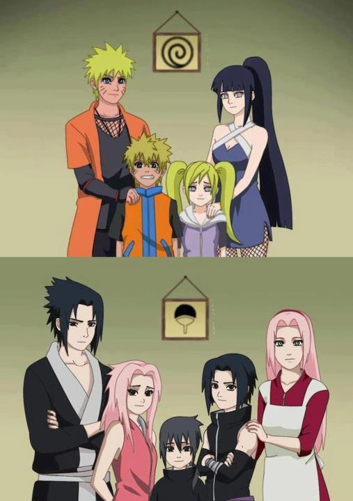 Keluarga Besar Naruto Dan Sasuke After Merried Tentram Ya