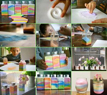 begini nih cara membuat vas warna warni....