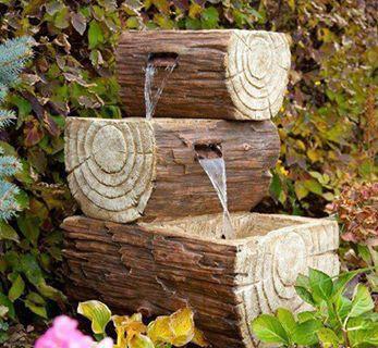 Hiasan Air dari limbah kayu....